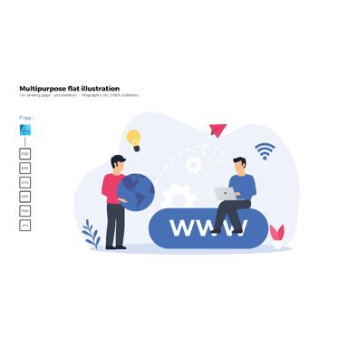 Business Models: Multipurpose modern flat illustration design domains #05850