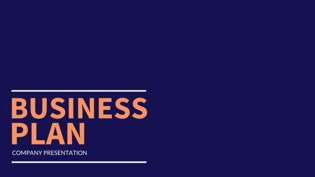 Presentation Templates: Company Business Plan #05851