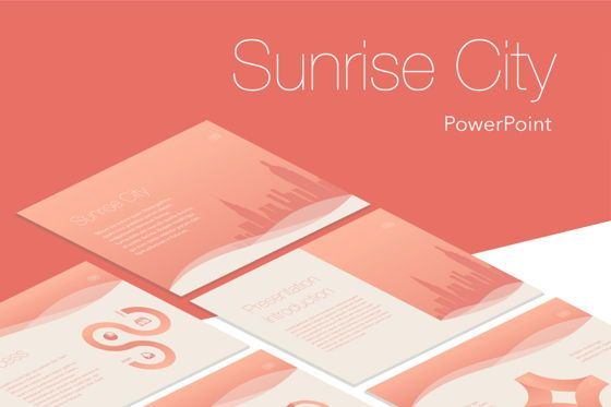 Presentation Templates: Sunrise City PowerPoint Template #05853