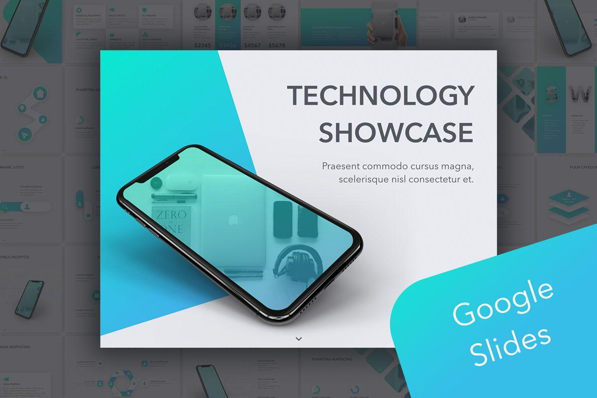 Technology Showcase Google Slides Template, 05856, Presentation Templates — PoweredTemplate.com