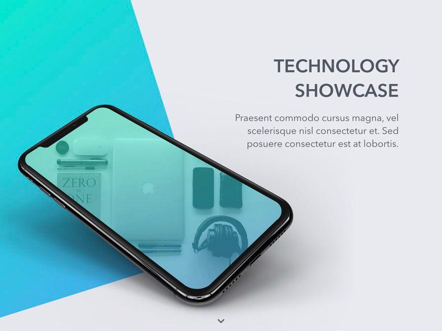 Technology Showcase Google Slides Template, Slide 2, 05856, Presentation Templates — PoweredTemplate.com