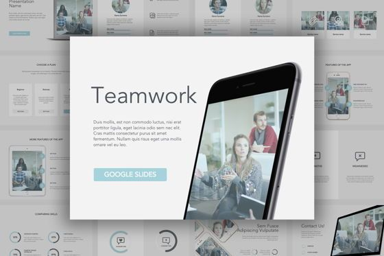 Presentation Templates: Teamwork Google Slides Template #05857