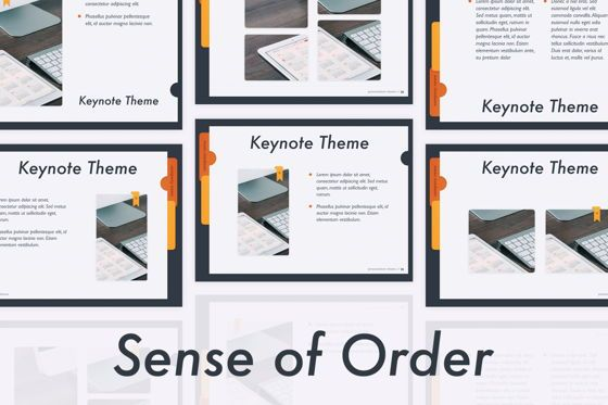 Presentation Templates: Sense of Order Keynote Template #05858