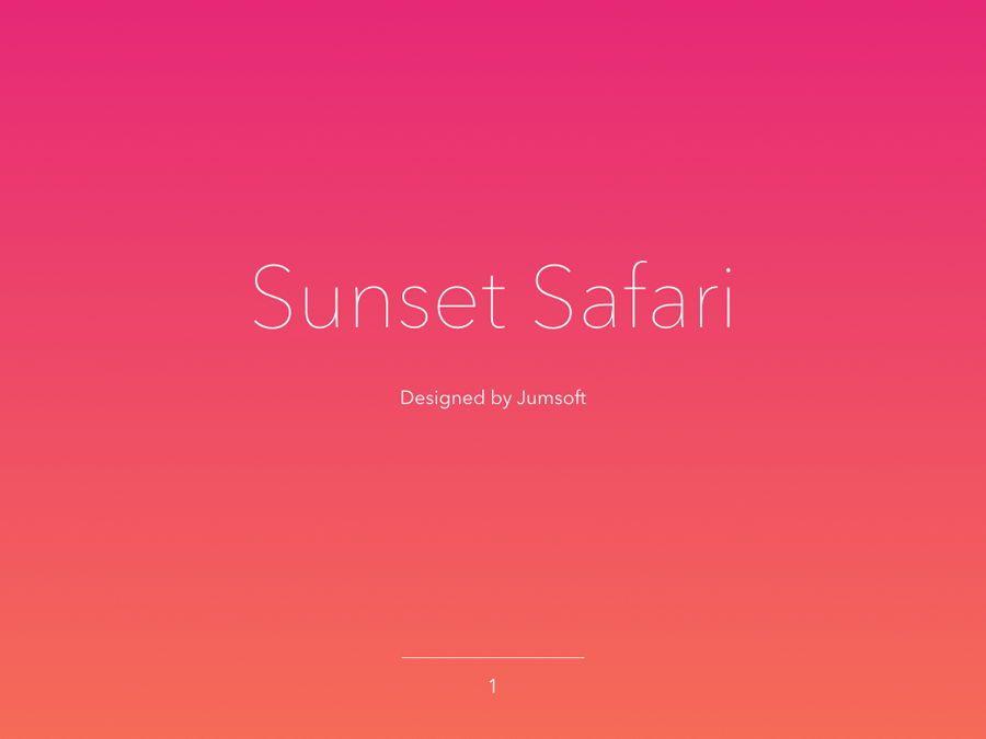 Sunset Safari Keynote Template, Slide 2, 05862, Presentation Templates — PoweredTemplate.com