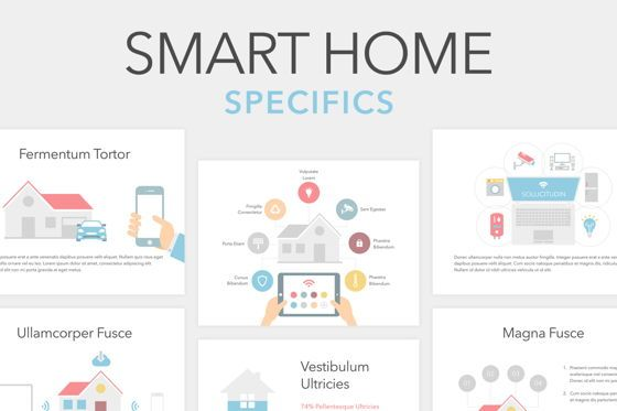 Presentation Templates: Smart Home PowerPoint Template #05863