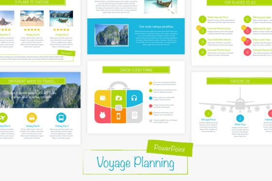 Presentation Templates: Voyage PowerPoint Template #05865