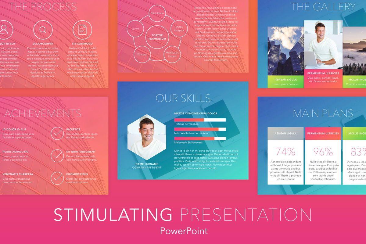 Stimulating PowerPoint Template, 05867, Presentation Templates — PoweredTemplate.com