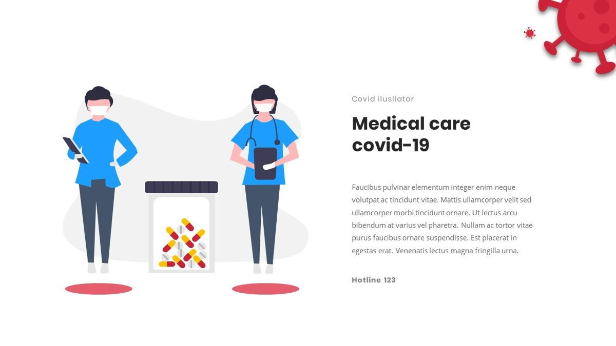 Covid19 - Presentation Template, Slide 18, 05870, Medical Diagrams and Charts — PoweredTemplate.com