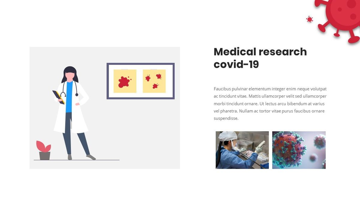 Covid19 - Presentation Template, Slide 19, 05870, Medical Diagrams and Charts — PoweredTemplate.com