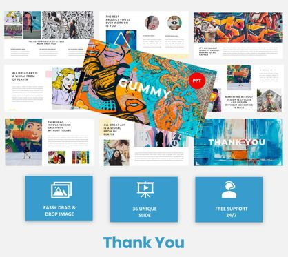 Presentation Templates: Gummy - Creative Art PowerPoint Template #05871