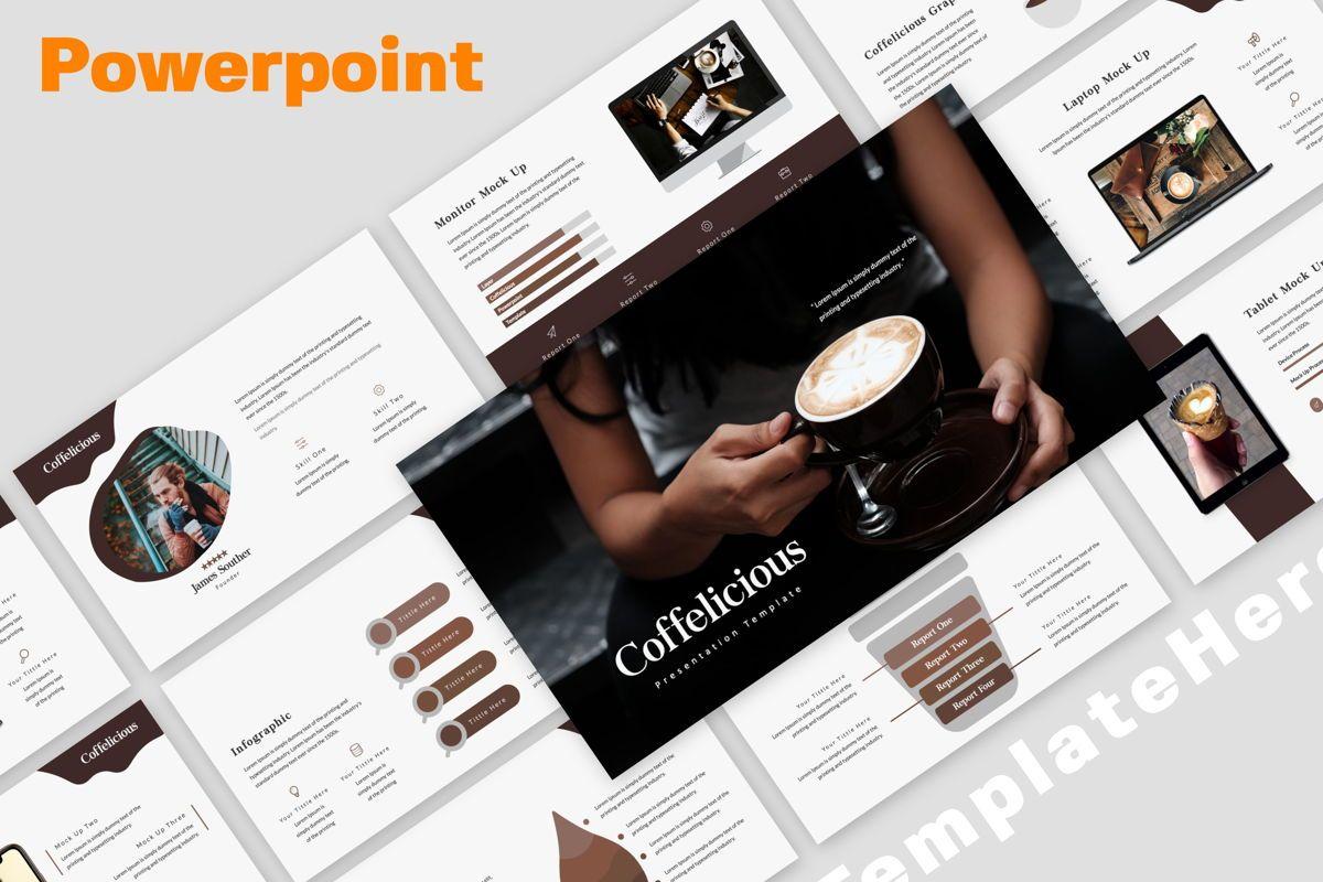 Coffelicious Powepoint, 05872, Presentation Templates — PoweredTemplate.com