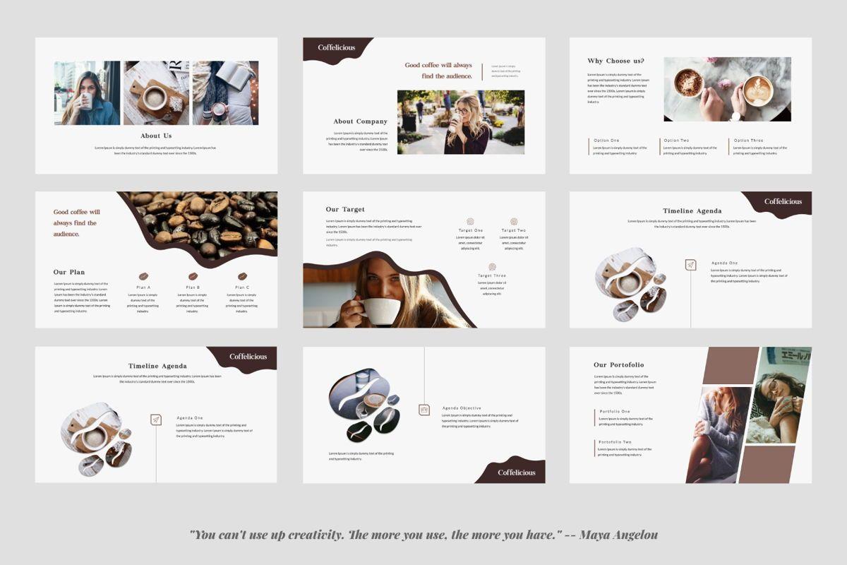 Coffelicious Powepoint, Slide 2, 05872, Presentation Templates — PoweredTemplate.com