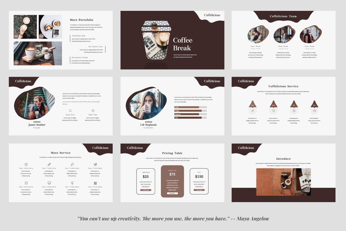 Coffelicious Powepoint, Slide 3, 05872, Presentation Templates — PoweredTemplate.com
