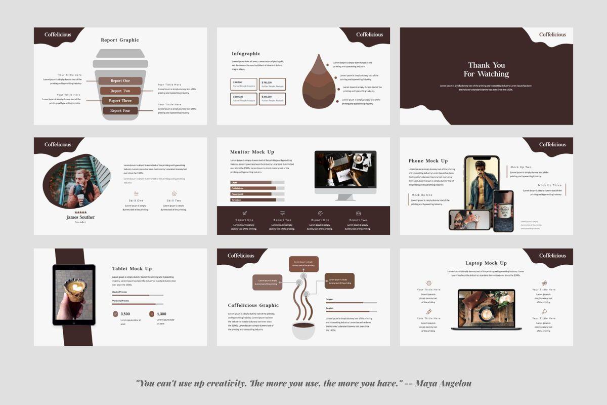Coffelicious Powepoint, Slide 4, 05872, Presentation Templates — PoweredTemplate.com