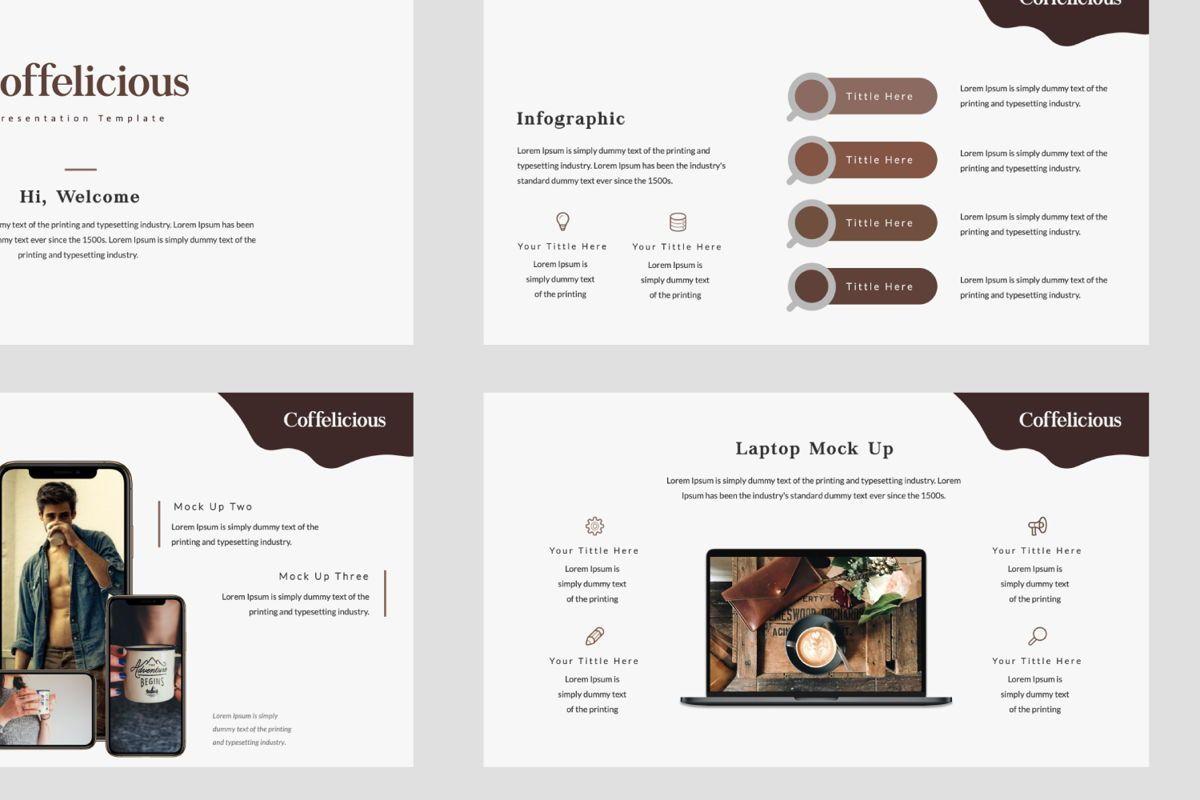 Coffelicious Powepoint, Slide 6, 05872, Presentation Templates — PoweredTemplate.com