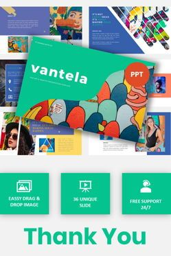 Presentation Templates: Vantela - Pop Art Grafitti Powerpoint Template #05874