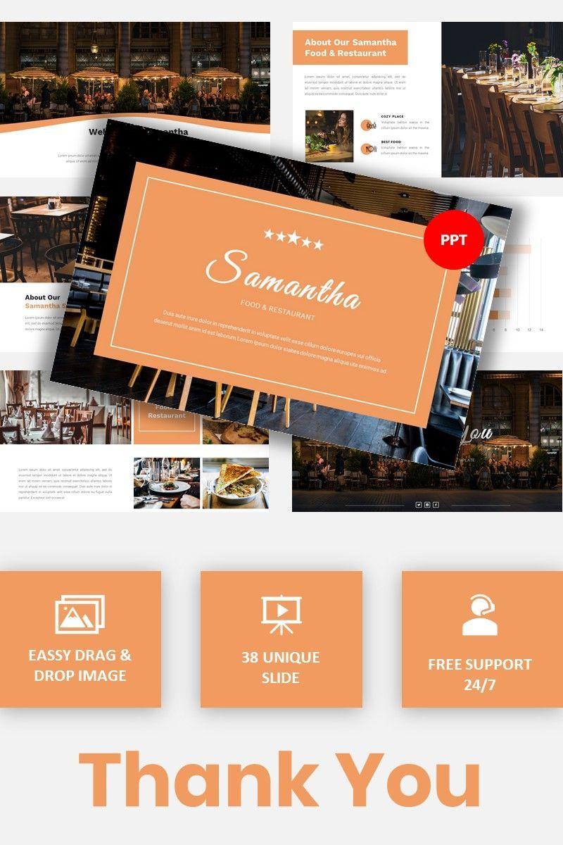 Samantha - Food Restaurant Powerpoint Template, 05875, Presentation Templates — PoweredTemplate.com