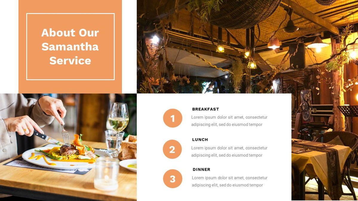Samantha - Food Restaurant Powerpoint Template, Slide 10, 05875, Presentation Templates — PoweredTemplate.com