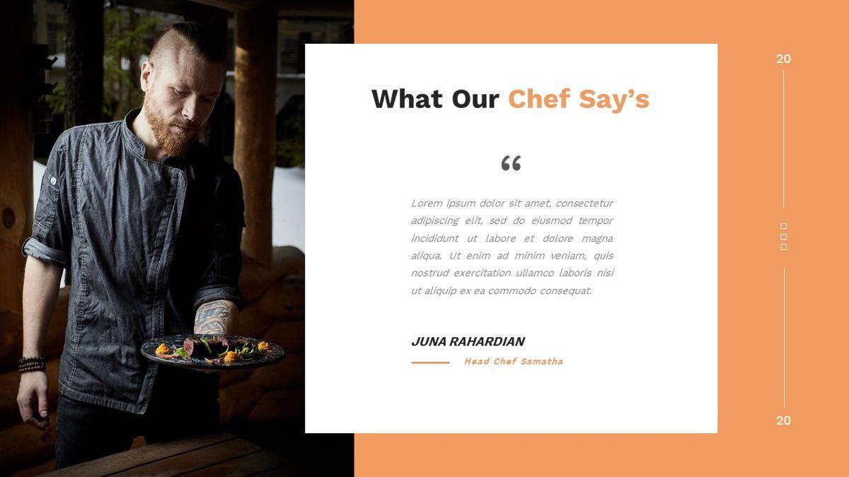 Samantha - Food Restaurant Powerpoint Template, Slide 13, 05875, Presentation Templates — PoweredTemplate.com