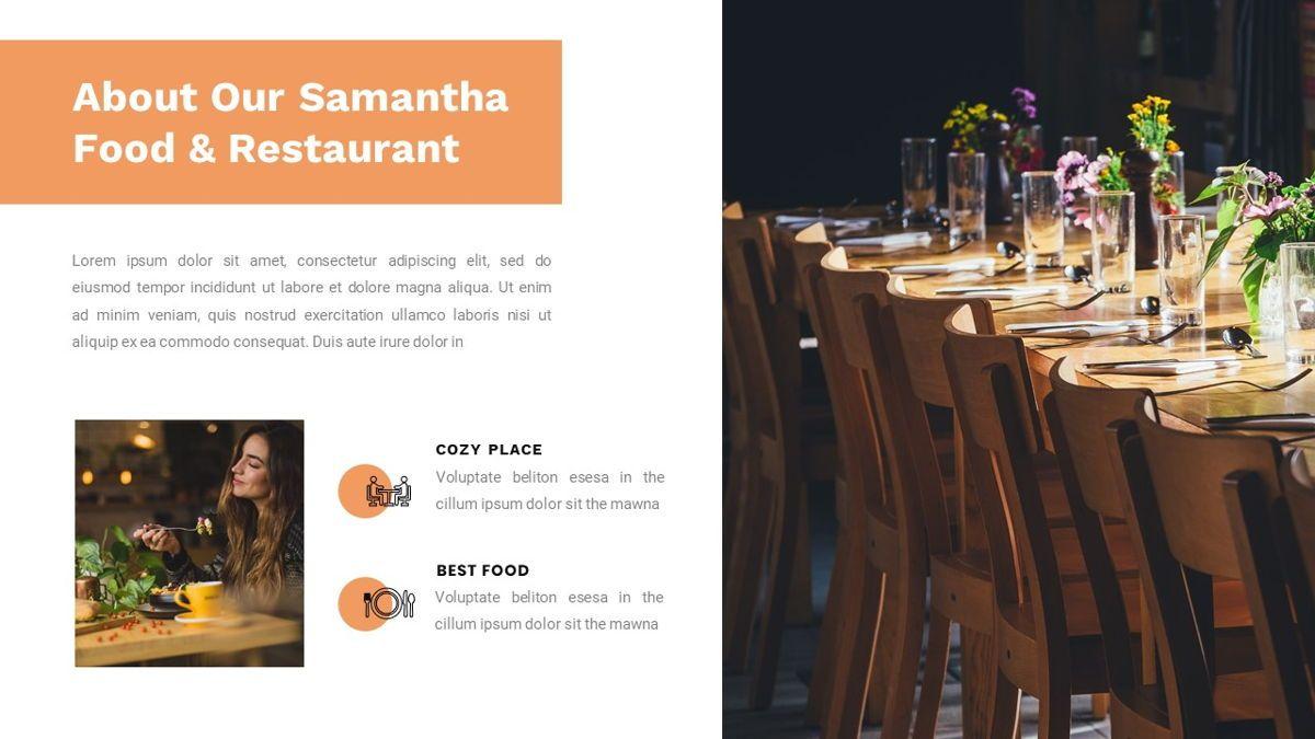 Samantha - Food Restaurant Powerpoint Template, Slide 3, 05875, Presentation Templates — PoweredTemplate.com
