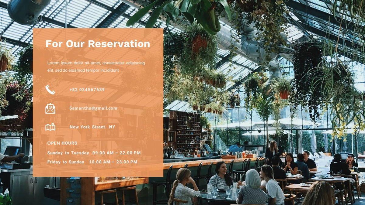 Samantha - Food Restaurant Powerpoint Template, Slide 36, 05875, Presentation Templates — PoweredTemplate.com