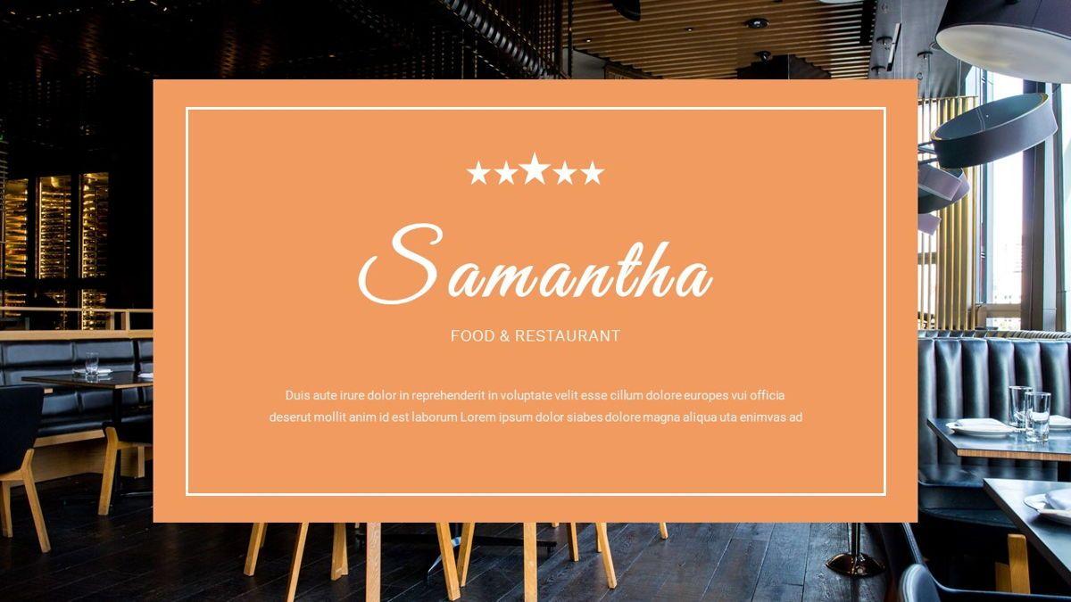 Samantha - Food Restaurant Powerpoint Template, Slide 39, 05875, Presentation Templates — PoweredTemplate.com