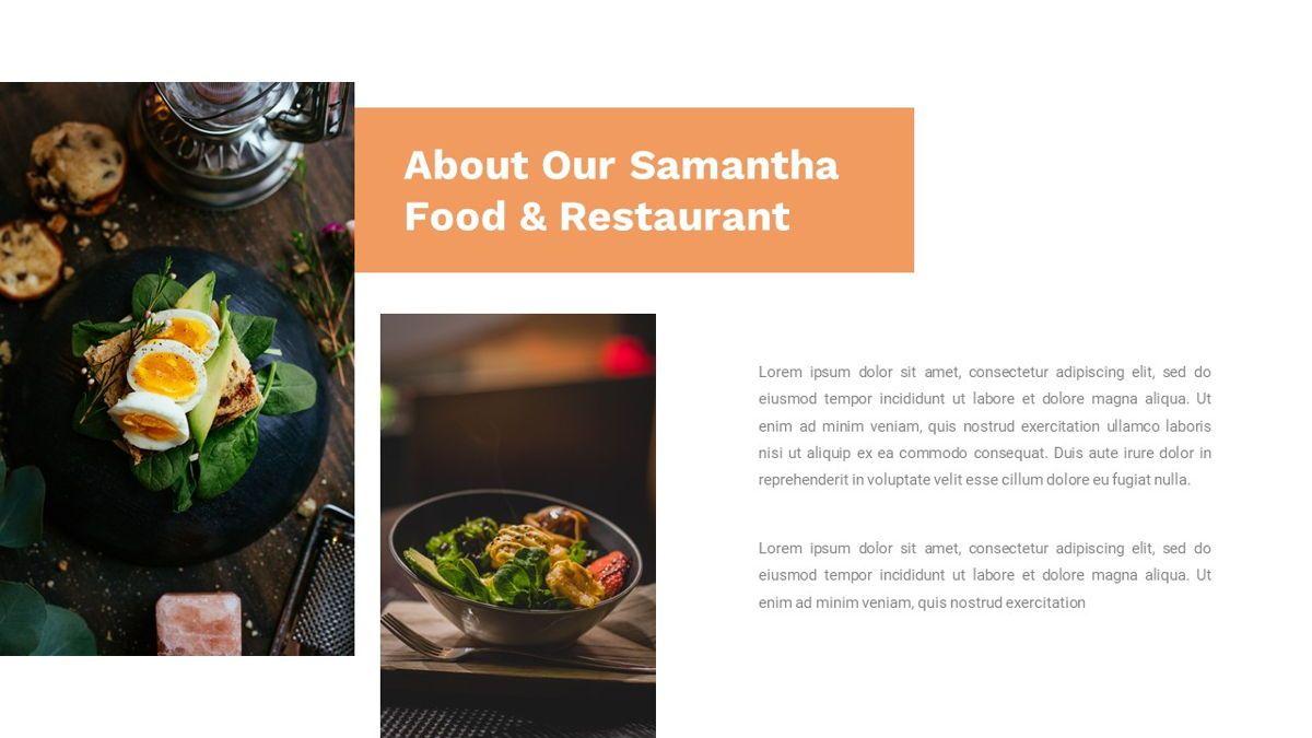 Samantha - Food Restaurant Powerpoint Template, Slide 4, 05875, Presentation Templates — PoweredTemplate.com