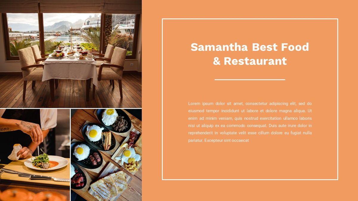 Samantha - Food Restaurant Powerpoint Template, Slide 6, 05875, Presentation Templates — PoweredTemplate.com