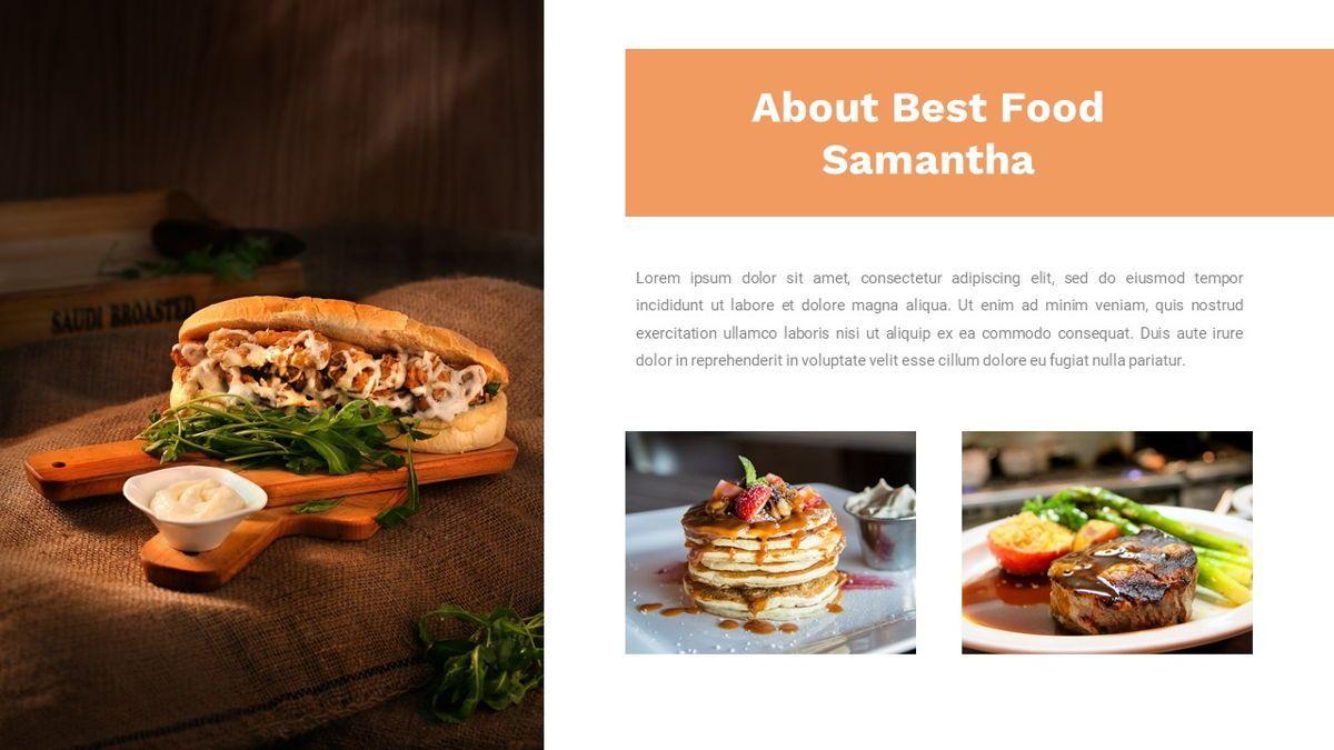 Samantha - Food Restaurant Powerpoint Template, Slide 7, 05875, Presentation Templates — PoweredTemplate.com