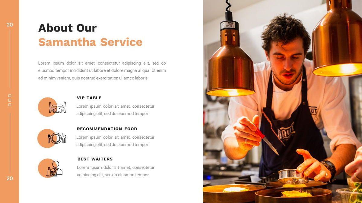 Samantha - Food Restaurant Powerpoint Template, Slide 9, 05875, Presentation Templates — PoweredTemplate.com