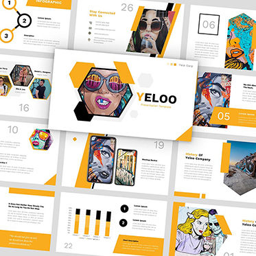 Presentation Templates: Yeloo - PowerPoint Template #05876