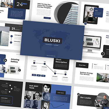 Presentation Templates: Bluski - PowerPoint Template #05879
