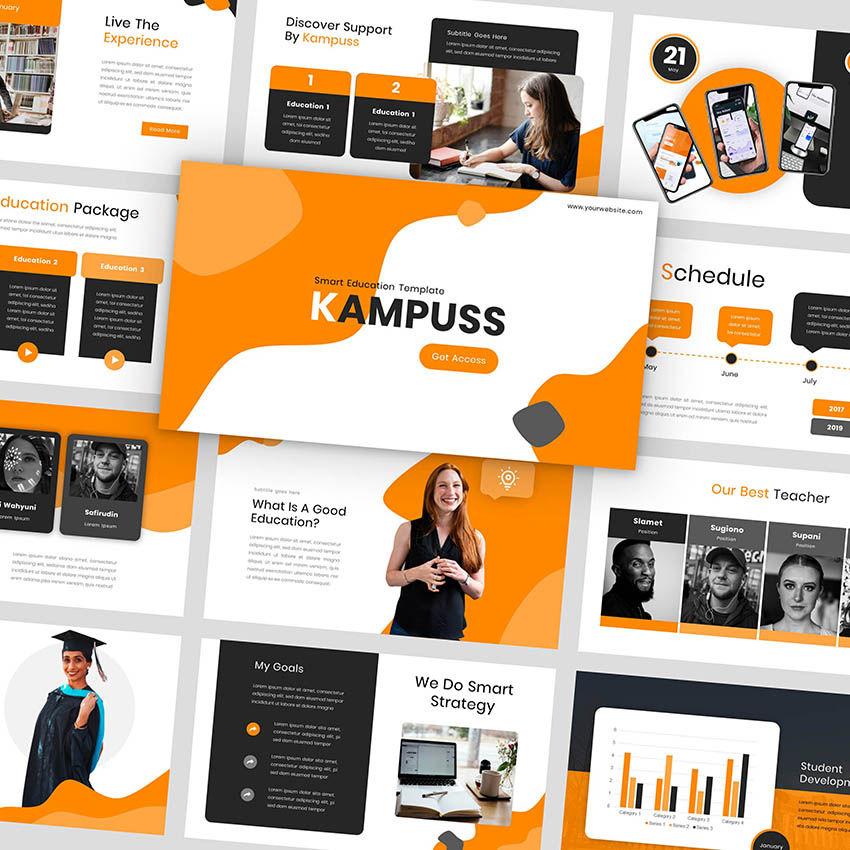 Kampuss - PowerPoint Template, 05880, Presentation Templates — PoweredTemplate.com