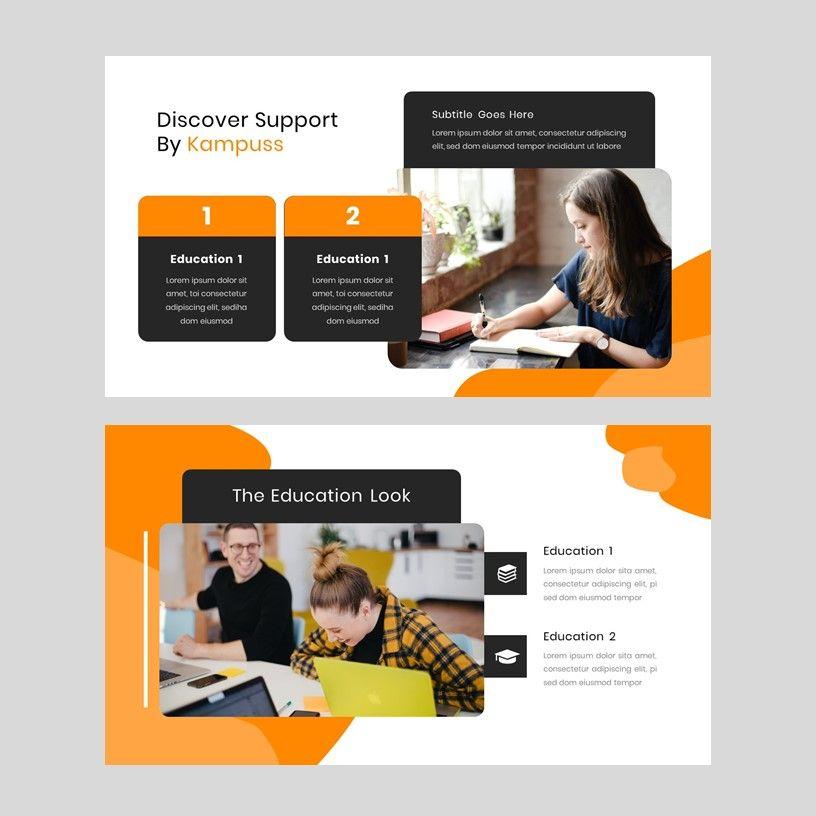 Kampuss - PowerPoint Template, Slide 18, 05880, Presentation Templates — PoweredTemplate.com