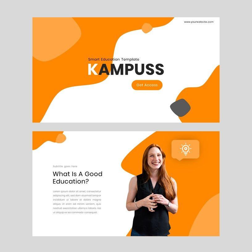 Kampuss - PowerPoint Template, Slide 2, 05880, Presentation Templates — PoweredTemplate.com
