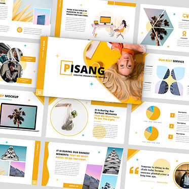 Presentation Templates: Pisang - PowerPoint Template #05884