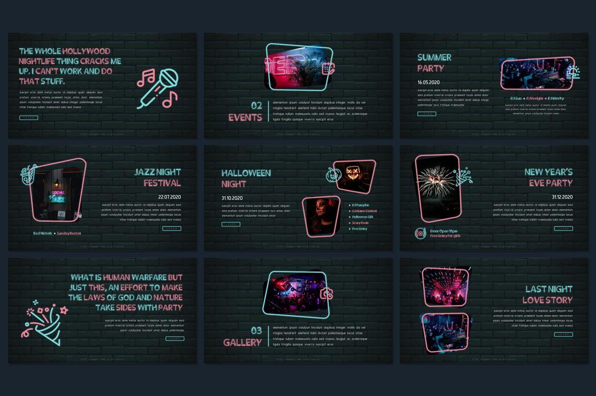 Cromagnon - Creative Neon Powerpoint Template, Slide 10, 05887, Presentation Templates — PoweredTemplate.com