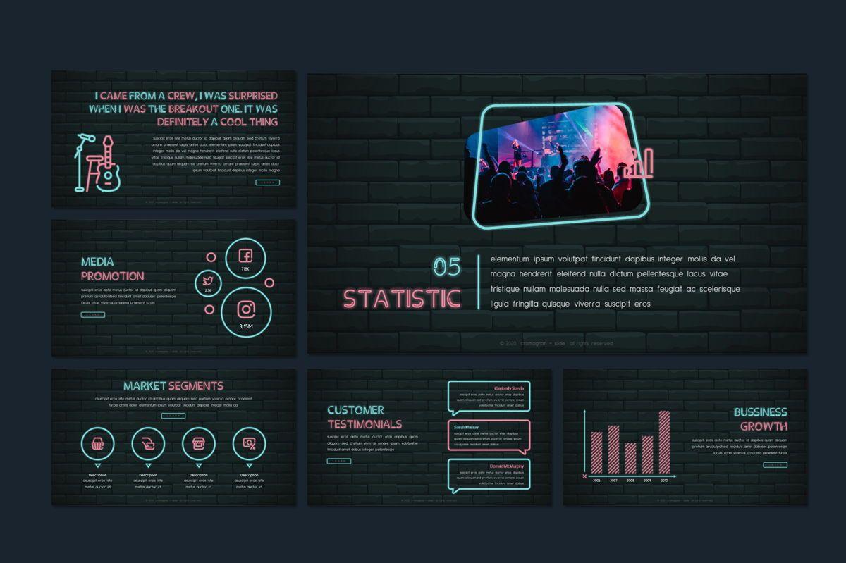 Cromagnon - Creative Neon Powerpoint Template, Slide 12, 05887, Presentation Templates — PoweredTemplate.com