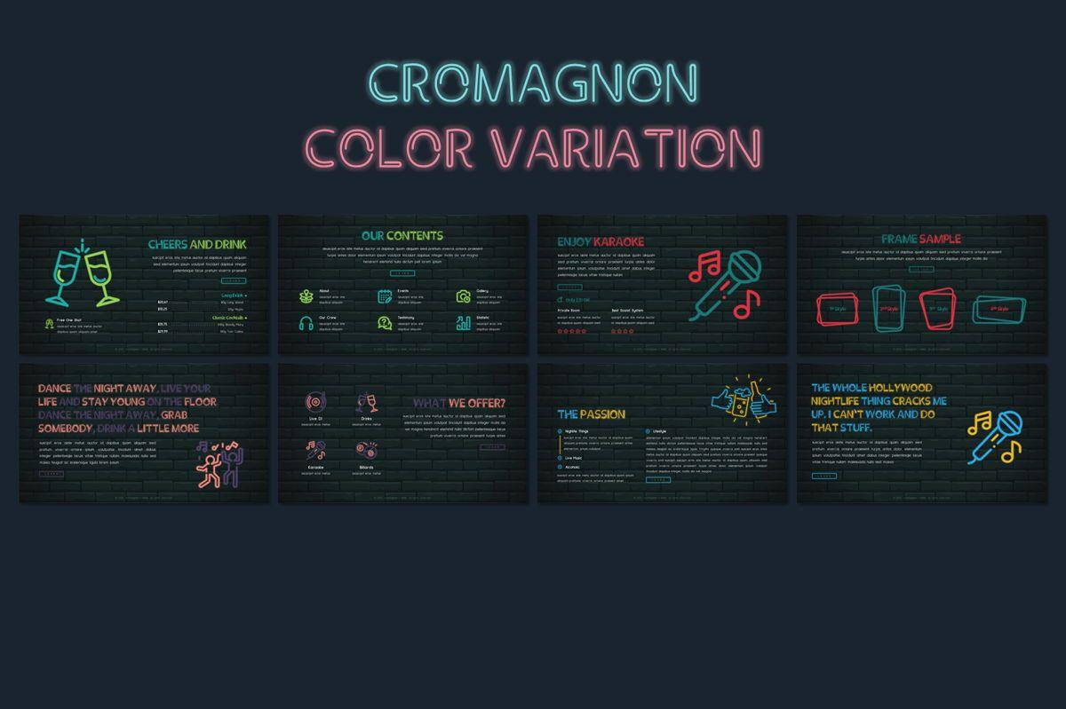 Cromagnon - Creative Neon Powerpoint Template, Slide 14, 05887, Presentation Templates — PoweredTemplate.com