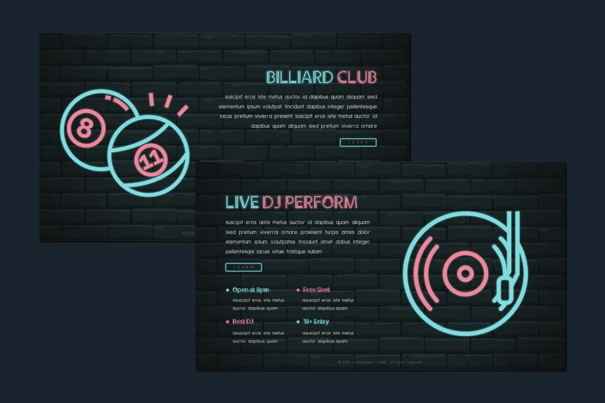 Cromagnon - Creative Neon Powerpoint Template, Slide 5, 05887, Presentation Templates — PoweredTemplate.com