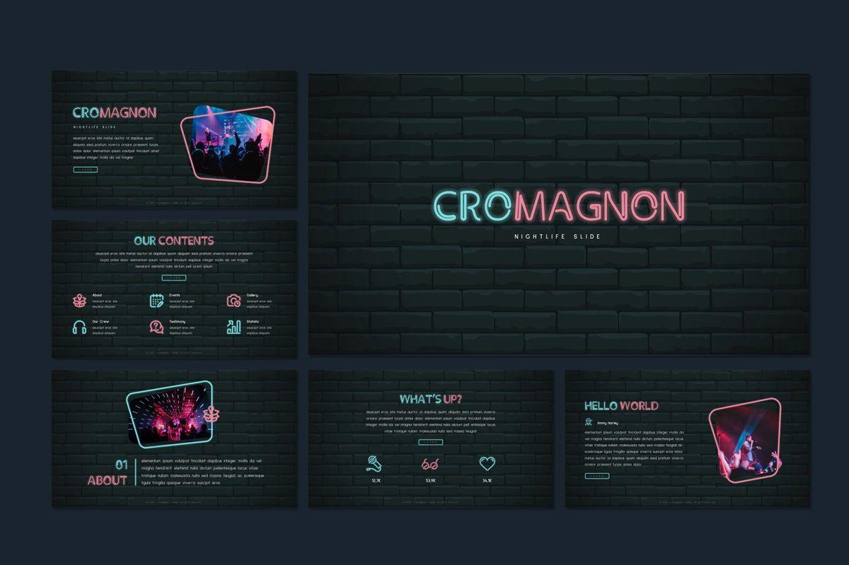 Cromagnon - Creative Neon Powerpoint Template, Slide 7, 05887, Presentation Templates — PoweredTemplate.com