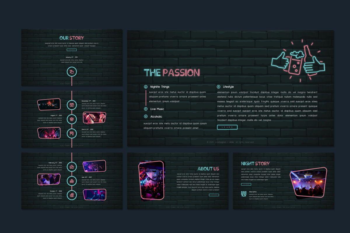 Cromagnon - Creative Neon Powerpoint Template, Slide 8, 05887, Presentation Templates — PoweredTemplate.com