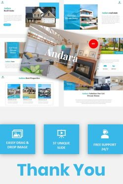 Text Boxes: Andara - Real Estate Powerpoint Template #05888