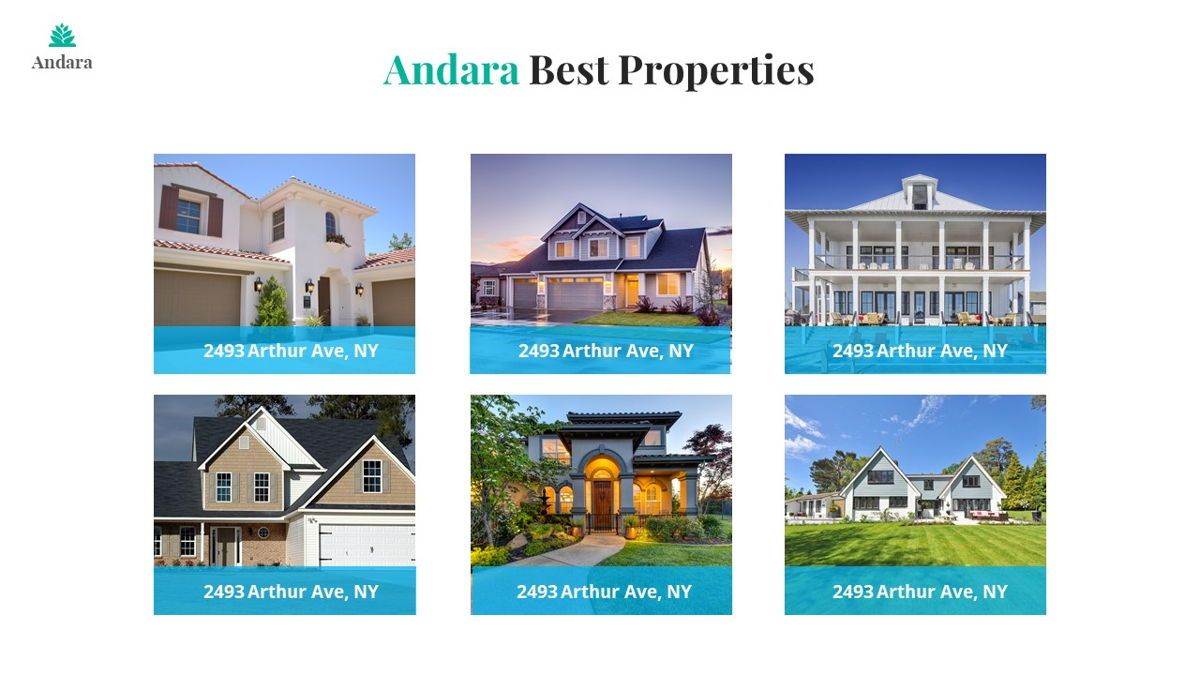 Andara - Real Estate Powerpoint Template, Slide 12, 05888, Text Boxes — PoweredTemplate.com