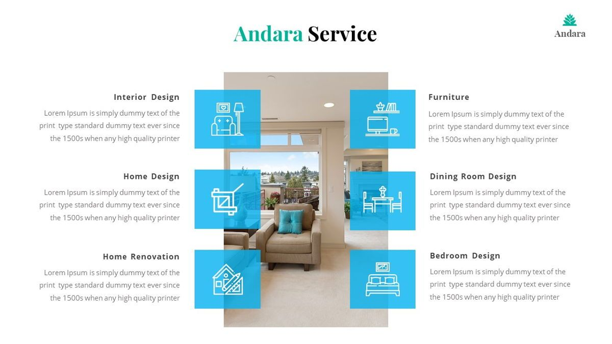 Andara - Real Estate Powerpoint Template, Slide 14, 05888, Text Boxes — PoweredTemplate.com