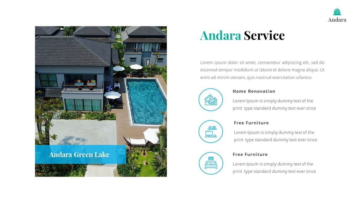 Andara - Real Estate Powerpoint Template, Slide 15, 05888, Text Boxes — PoweredTemplate.com