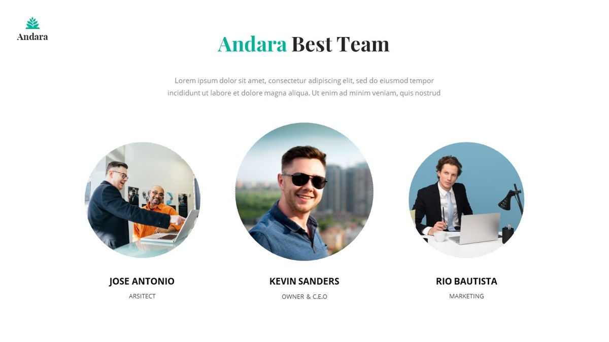Andara - Real Estate Powerpoint Template, Slide 18, 05888, Text Boxes — PoweredTemplate.com