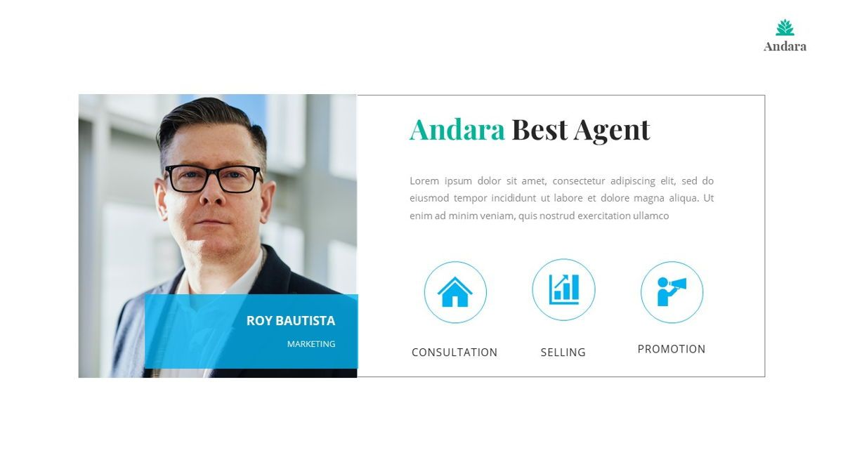 Andara - Real Estate Powerpoint Template, Slide 20, 05888, Text Boxes — PoweredTemplate.com