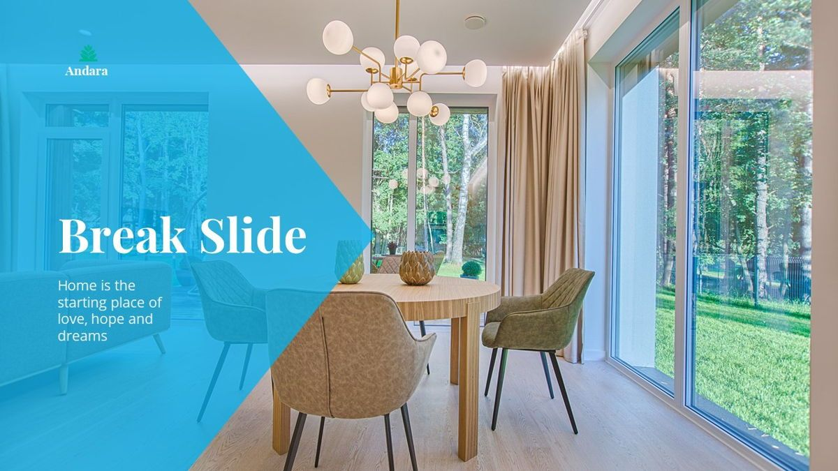 Andara - Real Estate Powerpoint Template, Slide 21, 05888, Text Boxes — PoweredTemplate.com