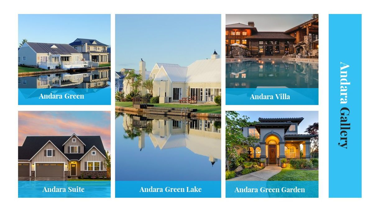 Andara - Real Estate Powerpoint Template, Slide 22, 05888, Text Boxes — PoweredTemplate.com